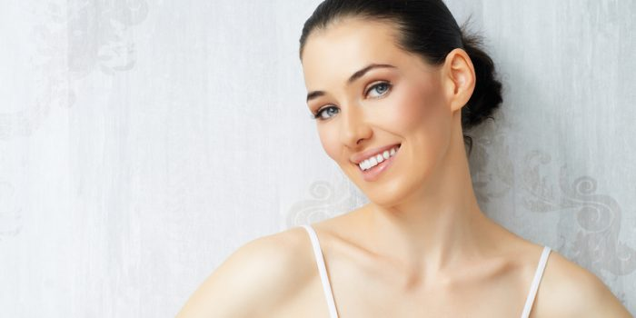 beauty woman on the wall background
